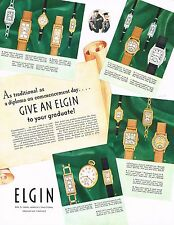 1936 BIG Vintage Elgin Watches Wrist Watch Models Names & Prices Art Print Ad