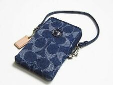 COACH SIGNATURE DENIM MUTIFUNCTION UNIVERSAL CASE 61562--NEW