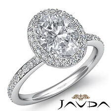 Natural Oval Cut Diamond Vintage Style Engagement Ring GIA F VS2 Platinum 2 ct