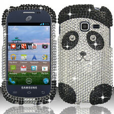 For Samsung Galaxy Centura S738C Crystal Diamond BLING Case Phone Cover Panda