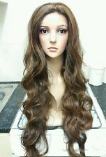 Glamorous, Human Hair Wig, Brunette, Brown, lace front, 30""