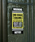 SKU014 - No Canvassers - No Cold Callers - Front Door Letter Box Sign / Sticker