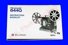 BELL & HOWELL FILMOSOUND 644q 16mm SONORO alle cine proiettore Instruction book