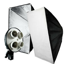 NEW Photo Studio Softbox 4 Socket 50 x 70cm Video Lighting Kit Set Photo Light