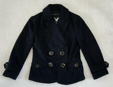 AE American Eagle Outfitters Navy Blue Double Breasted Blazer Jacket XXS 0 TTP