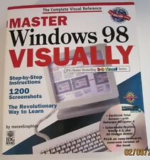 1998 Master Windows 98 Visually paperback book and CD ROM by Maran Graphics