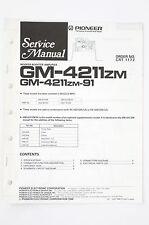 PIONEER GM-4211ZM/ZM-91 Woofer Amplifier Service-Manual/Schaltplan/Diagram o97