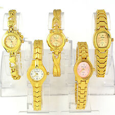 5pcs Wholesale New Golden Fashion Lady Girl Quartz Wrist Watch,WG19-5