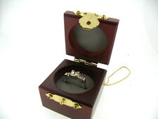 engagement ring, size7, clear crystal rhinestones, deluxe wood ring box++++