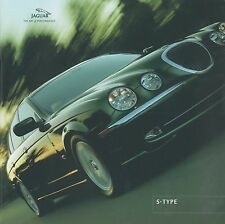 2001 JAGUAR S-TYPE 3.0 V6 SE 4.0 V8 BROCHURE PROSPEKT CATALOGUE ENGLISCH