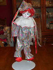 porcelain clown doll birthday 20 inches