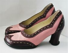 JOHN FLUEVOG SHOES KRISTEN PUMP PINK PURPLE SPECTATOR BROGUE HEELS HI CHOICE 10