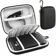 Hard Shock proof Black Carry Protection Case For Portable External Hard Drive