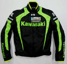MENS 2016 KAWASAKI NINJA MOTOGP MOTORCYCLE LEATHER RACING JACKET XS TO 6XL