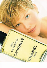 PUBLICITE ADVERTISING  1995   CHANEL   eau de parfum CRISTALLE