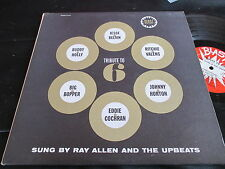 RAY ALLEN AND THE UPBEATS TRIBUTE TO 6 BLAST BLP 6804 BUDDY HOLLY EDDIE COCHRAN