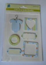 PC ROB & BOB STUDIO SWEET BABY BOY EMBELLISHMENT TOPPERS FOR CARDS & CRAFTS
