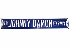 """JOHNNY DAMON EXPRESSWAY GIANT 6""""x36"""" ENAMEL PAINTED STREET SIGN YANKEES RED SOX"""