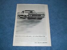 """1964 Buick Wildcat Vintage Ad """"Sports Lovers of the World, Unite"""""""