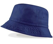 Mens Mans Summer Sun Vintage Style Chino Bucket Hat Navy Blue  Cotton UPF50+