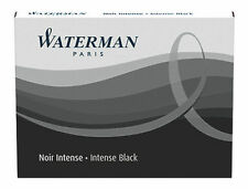 WATERMAN   INTENSE BLACK INK CARTRIDGES NEW IN BOX 1 BOX  8 CARTRIDGES