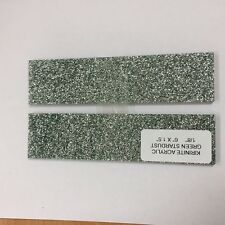 "KIRINITE: GREEN STARDUST 1/8"" 1.5"" x 6"" Scales for WoodWorking, Knife Making"