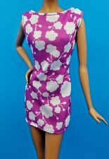 2017 Barbie Fashionistas & Model Muse Purple with White Abstract Print Dress