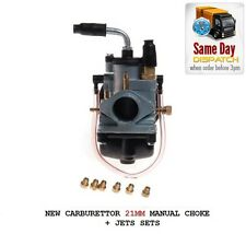 NEW CARB CARBURETTOR 21MM MANUAL CHOKE JETS YAMAHA DT TZR 50 AM6