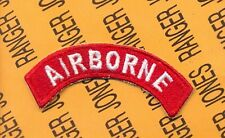 USAF Army Air Force HQ Command AIRBORNE tab arc patch