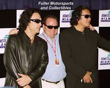 KISS GENE SIMMONS PAUL STANLEY CHIP GANASSI 8X10 PHOTO NASCAR HOMESTEAD MIAMI