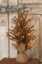 "PRIMITIVE GERMAN FIR 18"" RUSTIC TWIG COUNTRY CHRISTMAS TREE WITH 20 LIGHTS"