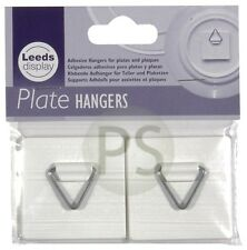 2 x Self Adhesive Plate Picture Hanger Sticky Pad & Hook : Leeds Display NEW