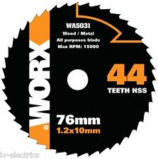WOOD METAL DISC BLADE FOR WORX HANDYCUT MINI CIRCULAR SAW WA5031 44 TEETH HSS