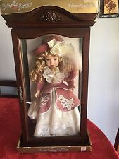 "Camellia Garden Collection / Brass Key 16"" Porcelain Doll In Display Case,1999"