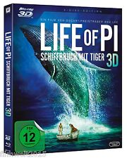 Life of Pi - Schiffbruch mit Tiger [3D + 2D Blu-ray - 2 Disc](NEU/OVP) Ang Lee