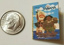 Miniature dollhouse Disney Princess book Barbie 1/12 Scale Moana movie E