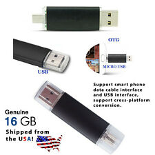 16GB Dual USB Micro USB Flash Memory Stick Pen Drive for PC/Phone - USA shipped!