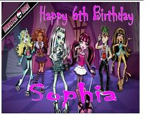 Monster High Cake Topper Birthday Personalised A4