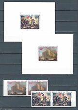French Colonies Congo deluxe stamp sheet & stamp pair - military battle - Art