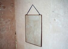 Kiko Copper Mirror by Nkuku 30 x 30cm, Hanging Wall Mounted Mirror, Fair Trade