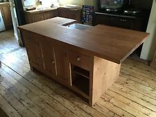 Solid Pine Freestanding Kitchen Island Unit With Belfast Sink , Taps And Waste