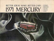 Mercury 1971 USA Market Sales Brochure Comet Cougar Montego Monterey Marquis