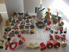 Lot of Vintage Christmas Ornaments Decorations Pixie Santa Boot Icicle ornament