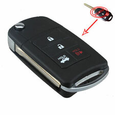 4 Button Case Shell Folding Blade Key Remote Fob For Toyota Reiz Corolla Camry
