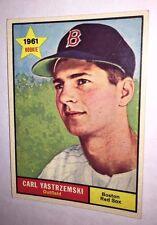 1961 Topps CARL YASTRZEMSKI # 287 Card 55 yr old Boston Red SOX YAZ EX+ FENWAY !