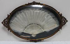 Victorian Fan, Cased In Gilt Metal Frame