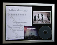 IMAGINE DRAGONS It's Time CD QUALITY MUSIC FRAMED DISPLAY+EXPRESS GLOBAL SHIP