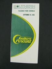 Southern Railway System Railroad RR Public Timetable 1975 Crescent