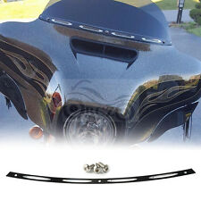 Black Deep Cut Fairing Windshield Trim For Harley Touring FLHT FLHX 1996-2013