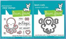 Lawn Fawn Photopolymer Clear Stamp & Die Combo ~ OCTOPI MY HEART  ~LF1295,1296